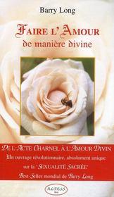 Faire l'amour de manière divine - Couverture - Format classique