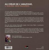 Au Coeur De L'Amazonie, L'Eglise Des Pauvres - 4ème de couverture - Format classique