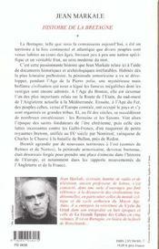 Histoire De La Bretagne T.1 - 4ème de couverture - Format classique
