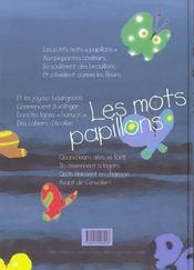 Les mots papillon - 4ème de couverture - Format classique