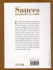 Sauces, marinades & coulis - 4ème de couverture - Format classique