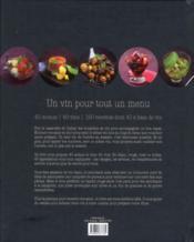 Un vin pour tout un menu - 4ème de couverture - Format classique