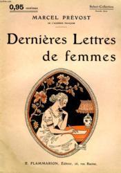 Dernieres Lettres De Femmes. Collection : Select Collection N° 139 - Couverture - Format classique