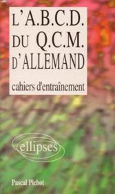 L'ABCD du QCM d'allemand ; cahiers d'entraînement - Couverture - Format classique