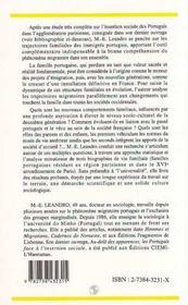 Familles Portugaises, Projets Et Destins - 4ème de couverture - Format classique