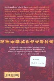Horoscope chinois (édition 2008) - 4ème de couverture - Format classique