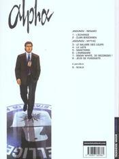Alpha t.8 ; jeux de puissants - 4ème de couverture - Format classique