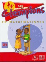 Nouveaux champions en mathematiques eleve ce1 - Couverture - Format classique