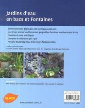 Mini-bassins et fontaines - 4ème de couverture - Format classique