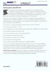 Enterprise Javabeans 3e Edition - 4ème de couverture - Format classique