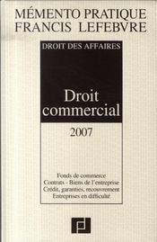 Droit des affaires ; droit commercial (édition 2007-2008) - Intérieur - Format classique