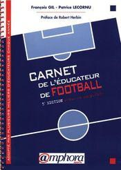 Carnet de l'éducateur de football - Intérieur - Format classique