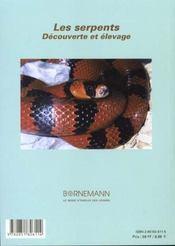Serpents - 4ème de couverture - Format classique