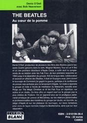 The Beatles ; au coeur de la pomme - 4ème de couverture - Format classique