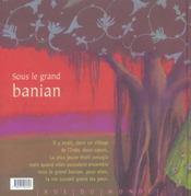 Sous le grand banian - 4ème de couverture - Format classique