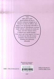Aventures Du Baron De Munchhausen (Les) - 4ème de couverture - Format classique