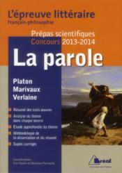 télécharger LA PAROLE - EPREUVE LITTERAIRE 2013/2014 pdf epub mobi gratuit dans livres 46302702_10381383
