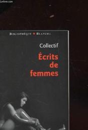 Ecrits De Femmes - Couverture - Format classique
