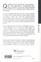La révolution française - 4ème de couverture - Format classique