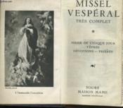 Missel Vesperal Tres Complet - Couverture - Format classique