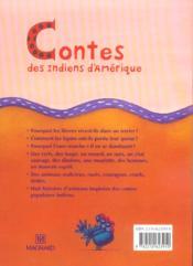 Contes des Indiens d'Amerique ; CE2 - 4ème de couverture - Format classique