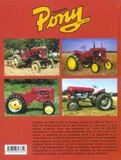 Tracteurs pony, 1947-1961 - 4ème de couverture - Format classique