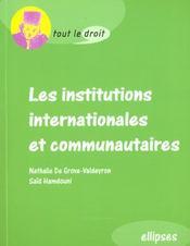 Les Institutions Internationales Et Communautaires - Intérieur - Format classique