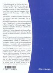 Le Systeme Juridique De L'Union Europeenne - 4ème de couverture - Format classique