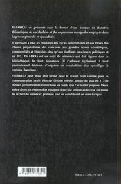 Palabras Le Vocabulaire Espagnol - 4ème de couverture - Format classique