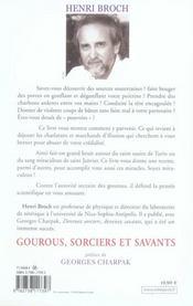 Gourous, sorciers et savants - 4ème de couverture - Format classique