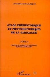 Atlas préhistorique et protohistorique de la Sardaigne t.4 - Couverture - Format classique