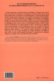 Atlas préhistorique et protohistorique de la Sardaigne t.4 - 4ème de couverture - Format classique