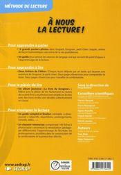 A Nous La Lecture ; Cp ; Avec Grognon T.1 ; Fichier De L'Elève - 4ème de couverture - Format classique