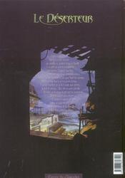 Le Deserteur T.2 ; Gharojai - 4ème de couverture - Format classique