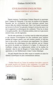 Civilisations englouties t.2 ; découvertes et mystères - 4ème de couverture - Format classique
