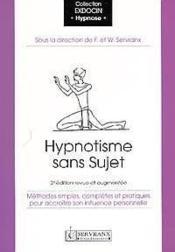 Hypnotisme Sans Sujet - Couverture - Format classique