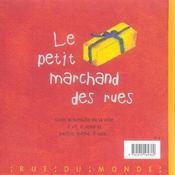 Le Petit Marchand Des Rues - 4ème de couverture - Format classique