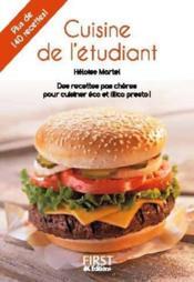 Cuisine de l'étudiant (2e édition) - Couverture - Format classique