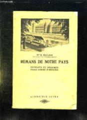 Romans De Notre Pays. Extraits Et Resumes Pour Cours D Adultes. - Couverture - Format classique