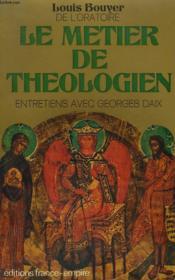 Le Metier De Theologien. - Couverture - Format classique