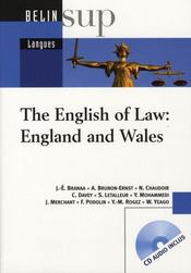 Vente livre :  The english of law : england and wales  - Collectif