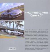 Porsche carrera gt - 4ème de couverture - Format classique