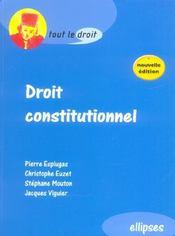 Droit Constitutionnel 2e Edition - Intérieur - Format classique