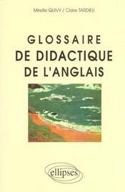 Glossaire De Didactique De L'Anglais - Intérieur - Format classique