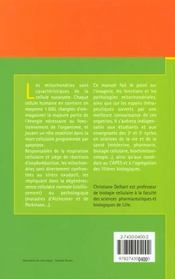 Les Mitochondries ; Biologie Et Incidences Physiopathologiques - 4ème de couverture - Format classique