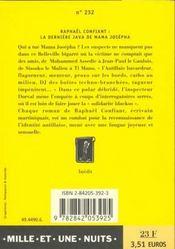 La Derniere Java De Mama Josepha - 4ème de couverture - Format classique