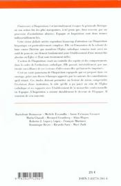 L'Inquisition Espagnole Et La Construction De La Monarchie Confessionnelle ; 1478-1561 - 4ème de couverture - Format classique