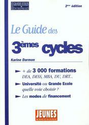 Guide Des Troisiemes Cycles - Intérieur - Format classique