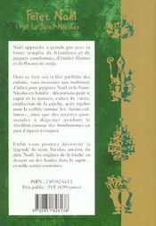 Fetez noel et la saint nicolas - 4ème de couverture - Format classique