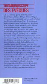 Trombinoscope Des Eveques ; Edition 2002 - 4ème de couverture - Format classique